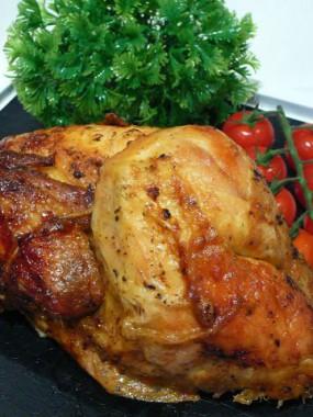 Demi poulet rôti