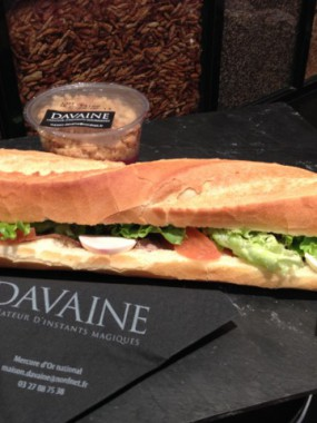 Sandwich pâté de foie