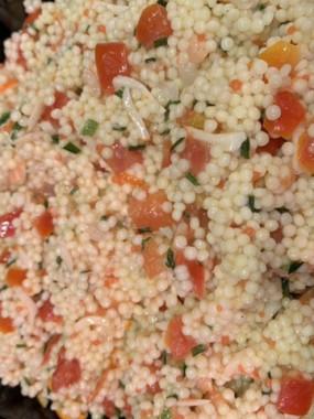 Salade de perle au saumon