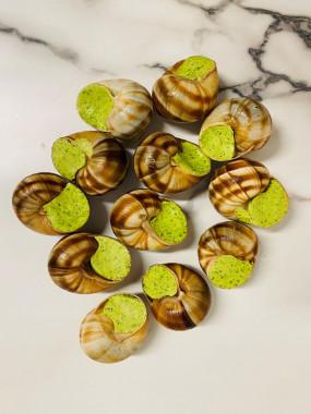 La douzaine d'escargots de bourgogne